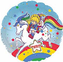 Rainbow Brite Balloon With Twink Riding Starlite